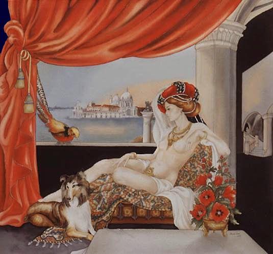 Invitation au Voyage I - Peinture sur soie © Anne-Lan