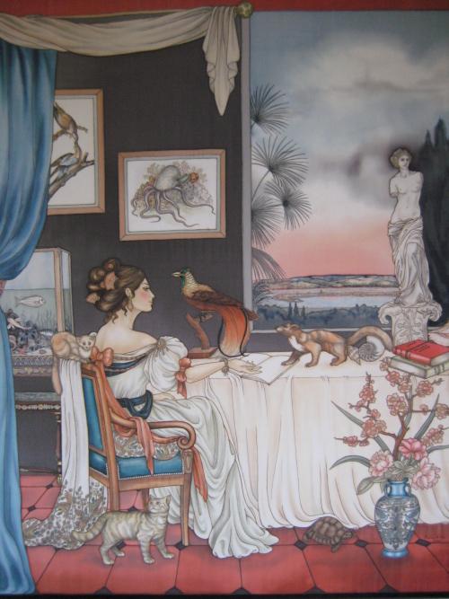 Jeanne Villepreux-Power - Peinture sur soie © Anne-Lan