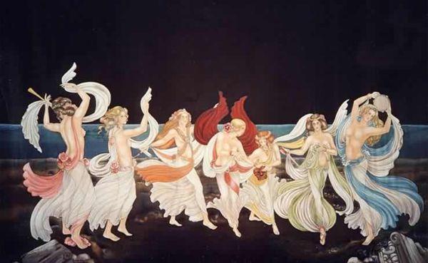 La danse des Grues - Peinture sur soie © Anne-Lan