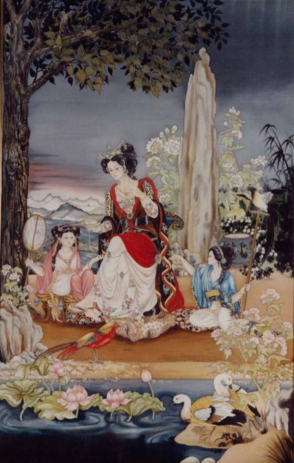 Le Fil de Soie - Peinture sur soie © Anne-Lan